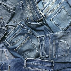Tas de jeans délavés
